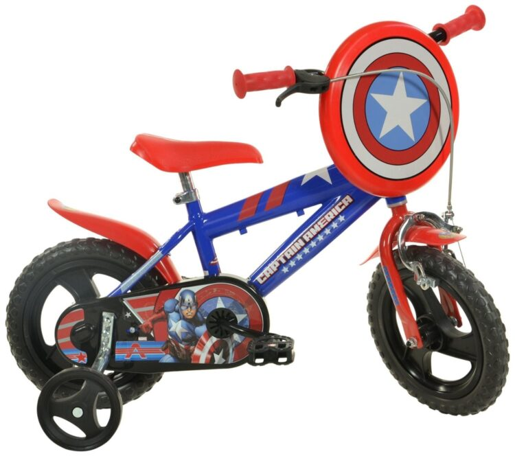 Bicicletta con rotelle Capitan America 12 pollici
