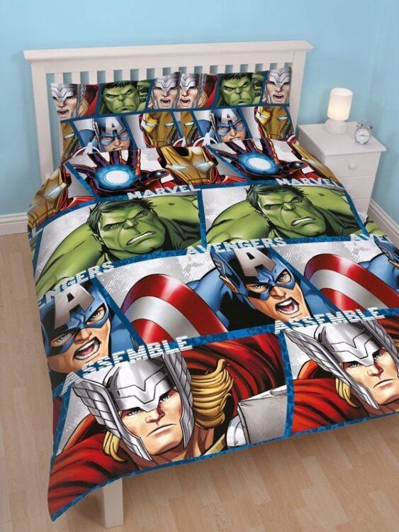 Parure copripiumino matrimoniale Marvel Avengers Shield