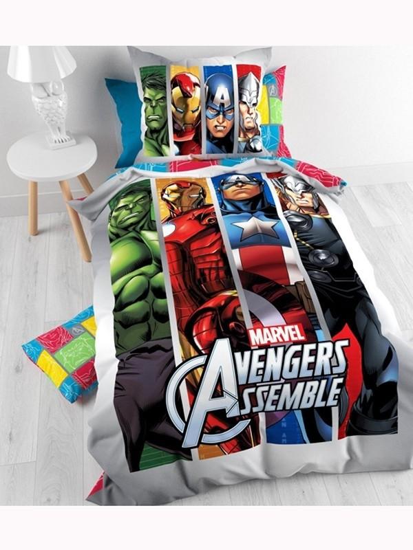 Copripiumino Singolo Avengers.Parure Copripiumino Singolo Marvel Avengers 100 Cotone Copripiumin