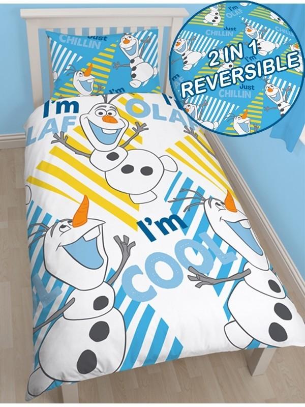 Copripiumino Singolo Frozen.Parure Copripiumino Singolo Olaf Disney Frozen Copripiumini E Bianc