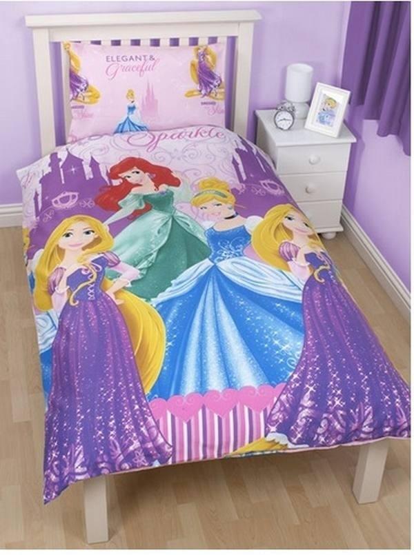 Copripiumino Principesse.Parure Copripiumino Sing Reversibile Principesse Disney Sparkle Co