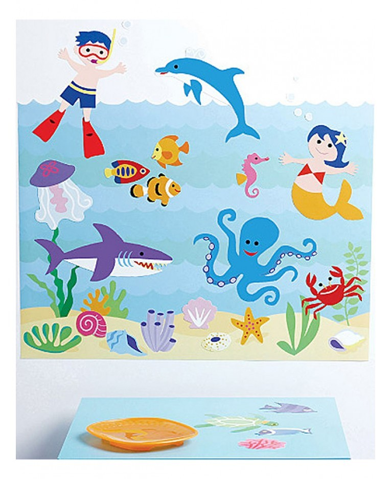 Decorazioni murali seaquarium stickers murali greche for Decorazioni murali