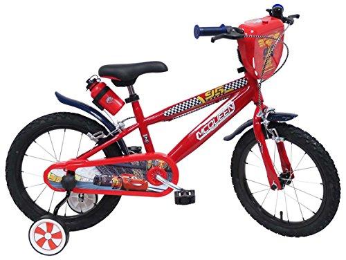Bicicletta con rotelle Disney Cars 16 pollici